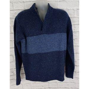 Peter Millar 1/4-Zip Wool Sweater, Size Medium